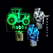Tractor Night Light Personalized LED - Kids Lamp - Dad - Nite Lite