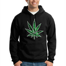 Pot Leaf Marijuana Weed OG Kush 420 Chronic Hooded Sweatshirt Hoodie