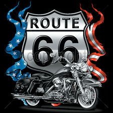 Route 66 Road Sign Historic Americas Highway Motorcycle Biker T-Shirt Tee