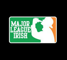 Major League Irish Logo Ireland Pride Drinking Party Funny T-Shirt Tee