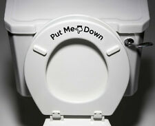 "TOILET - Put Me Down - Toilet Seat Bathroom Decal ©YYDC (7""w x 2""h)"