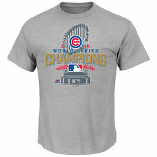 CHICAGO CUBS WORLD SERIES CHAMPIONS 2016 Official Majestic Locker Room Shirt