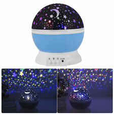 Star Sky Starry Night Rotating Projector LED Night Light Lamp For Baby Bedroom