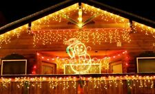 5m LED curtain ICICLE string fairy Christmas lights FOR street garden party Deco