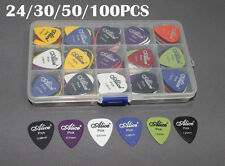 New Acoustic Electric Guitar Picks Plectrum Various thickness + Pick Box