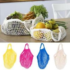 Reusable Cotton String Mesh Bag Shopping Tote Grocery Storage Hand Handle Bag