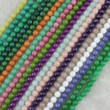 """8mm Faceted Round Jade Beads Loose Gemstone Beads for Jewelry Making Strand 15"""""""