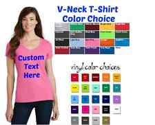 Personalized V-Neck T-Shirt - Add your own text - Custom V-Neck T-Shirt