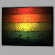 Abstract Multi Colour Wall Bricks Canvas Wall Art Print Framed A1 Large Picture