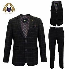 Mens Marc Darcy Tweed Blazer Waistcoat Trousers 3 Piece Suit Sold Separately