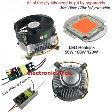 20w-100w high power led heatsink led grow chip DC 12V led cooling fan led kit