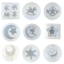 9 Shape DIY Clear Silicone Pendant Mold Handmade Drop Mould Jewelry Making Tools