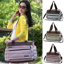 Multifunction Striped Tote Nappy Bag with Changing Pad Mummy Diaper Bag for Baby