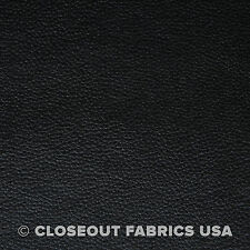 "BLACK FAUX LEATHER AUTO UPHOLSTERY PLEATHER FABRIC VINYL 54""W"