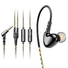 New 3.5mm in-ear Stereo HiFi Bass Headphone Noise Isolating Earphone With Mic W1