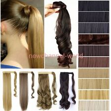 Fashion Natural Wrap Around Clip In On Ponytail Hair Extension Pony Tail Piece