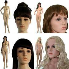 Female Plastic Mannequins Almost Unbreakable With Movable Head & Glass Base