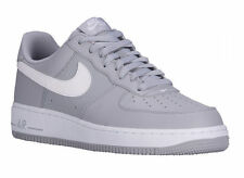 NEW MENS NIKE AIR FORCE 1 LOW BASKETBALL SHOES TRAINERS WOLF GREY / WHITE / WOLF