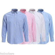 Stylish Mens Business Casual Dress Shirt Slim Fit Tee T-Shirts Long Sleeve Tops