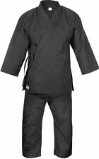 KnockOut Adult 14oz Premium Black Heavyweight European Cut Karate Kata Gi Suit