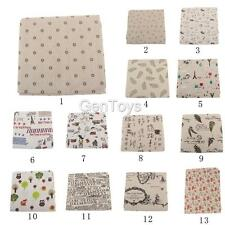 High Quality Cloth Cotton Linen Fabric Sewing DIY Textile Multi Pattern Option
