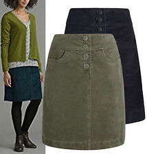 New Seasalt size 8 - 20 Corduroy Cord Cotton Brown Navy A line High Waist Skirt