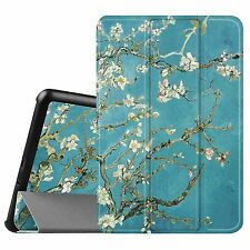 Pattern Slim Shell Lightweight Case Stand Cover for Samsung Galaxy Tab A Tablet