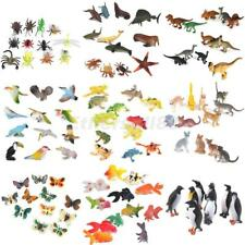 WHOLE SALE LOT of 12pcs Plastic Zoo Jungle Wild Animals Insects Model Party Toys