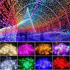 XMAS 10/20M 100/200 LED Fairy String Lights Lamps Garden Decor Christmas Party