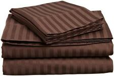 1000TC Soft Egyptian Cotton Duvet Set/Sheet Set/Fitted Color Chocolate Striped