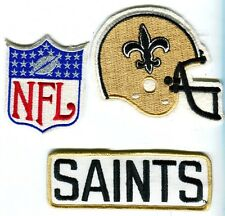 New Orleans Saints Team Name,  Helmet Patch & NFL  ShieldEmbroidered Patch