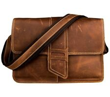 Men's Genuine Leather Vintage Briefcase Handbag Messenger Shoulder Bag New