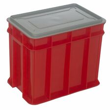 Award MULTISTACK STORAGE CRATE WITH LID Pad Lockable, RED*Aust Made - 9L Or 26L