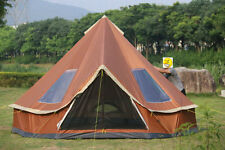 8 Person Outdoor Family Layer Waterproof Camping Hiking  Mongolia Tower Tent