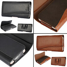 Universal Leather Pouch Holster Belt Clip Case For iPhone 7 Plus / Galaxy S7