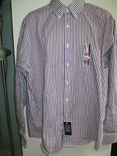 NWT Mens Button Front Dress Shirt by CHAPS, Size 17-17 1/2 Striped Classic