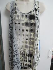 NWT Misses M, L or XL Shirt, Top, Tank Top by Simply Vera, Vera Wang, Gray Prin