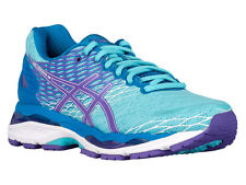 NEW WOMENS ASICS GEL-NIMBUS 18 RUNNING SHOES TRAINERS TURQUOISE / IRIS / METHYL