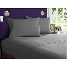 OFFER  BEDDING SHEETS SET 1000TC EGYPTIAN  COTTON ELEPHANT GRAY SOLID ALL SIZE
