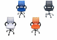 Quality Office Chairs with Mesh Back - Black, Blue, Orange, White Colours