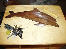 Beautiful Hand Carved Heavy Wood Dolphin Figure   Iron Wood  13''