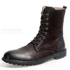 Men's Genuine Leather Lace Up Chukka Riding Western Desert Zip Up Ankle Boots