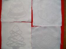 Fabric Panel with 14ct Aida Inserts for Cross Stitch - Christmas Designs