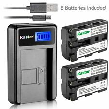 Kastar Battery and LCD Slim USB Charger for Sony NP-FM500, NP-FM500H DSLR