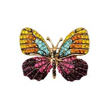 Stunning Crystal Rhinestone Butterfly Brooch Pin Accessory Gift for Girl Women