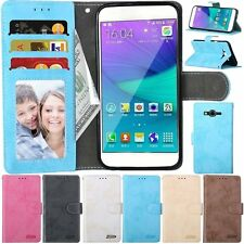 Flip Leather Wallet Photo Cards Stand Frame Skin Case Cover For Samsung Galaxy