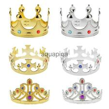 Plastic King Queen Princess Nativity MAJESTIC CROWN Fancy Hat Costume
