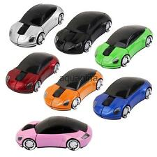 Car Shape Wireless 1600DPI USB 2.4 GHz Optical Laptop PC Gaming Mouse Mice