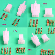 20set 2.8mm 2 pin 3 4 6  Way Electrical Connector Kit Male Female Motorcycle Car