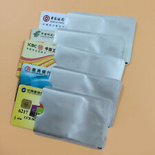 Lots Aluminum Foil Blocking ID Credit Card Protector Secure Sleeve Holder